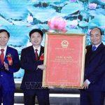 [TTXVN] Lễ công bố Nghị quyết về thành lập thị xã Duy Tiên, Hà Nam